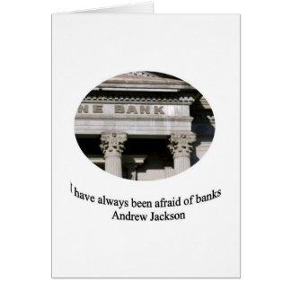 Cartes Andrew Jackson avec la citation