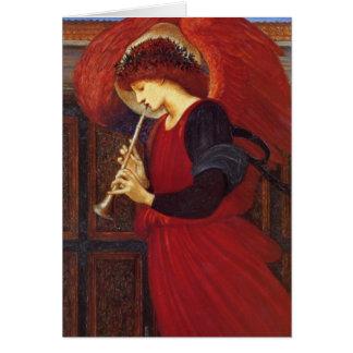 Cartes Ange avec la trompette, beaux-arts de Burne-Jones