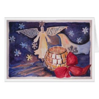 Cartes ange/carte Noël de colombe