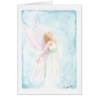 Cartes Ange d'aquarelle ou fée (blanc à l'intérieur)