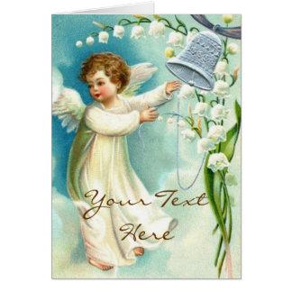 Cartes Ange de bébé avec Bell bleue