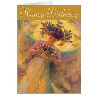Cartes Ange de Franz Dvorak d'anniversaire des oiseaux