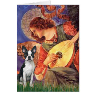 Cartes Ange de mandoline - Boston Terrier #1
