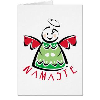 Cartes Ange de Namaste de vacances