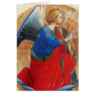 CARTES ANGE EN ROUGE ET LE BLEU D'OR