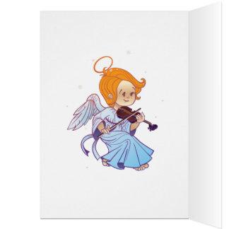 Cartes Ange mignon jouant le violon