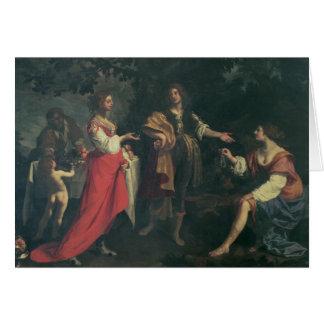 Cartes Angélique officinale et l'amarrage, Medoro, 1634