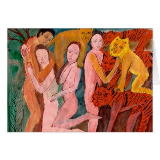 Cartes Anges et lions
