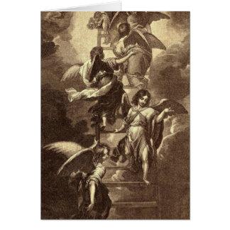 Cartes Anges sur une échelle céleste