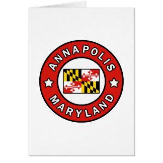 Cartes Annapolis le Maryland