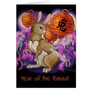 Cartes Année chinoise de zodiaque du lapin