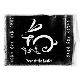 Cartes Année de Choy de foin de Gung grosse du lapin