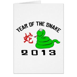 Cartes Année drôle du serpent 2013