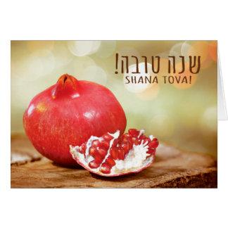 Cartes Année juive de Shana Tova Rosh Hashanah nouvelle