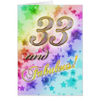 Cartes anniversaire 33rdt pour quelqu'un fabuleux