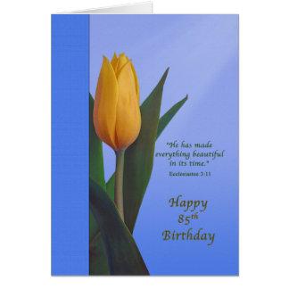 Cartes Anniversaire, 85th, fleur d'or de tulipe