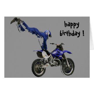 Cartes anniversaire aérien de motocross