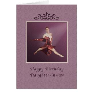 Cartes Anniversaire, belle-fille, sautant la ballerine