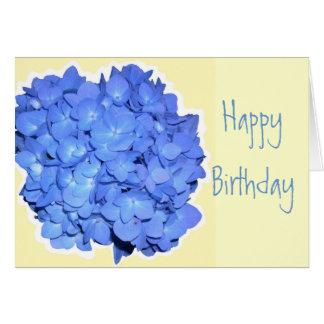 Cartes Anniversaire bleu d'écriture sainte d'hortensia
