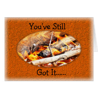 Cartes Anniversaire de barbecue de feu ou toute occasion