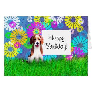 carte anniversaire chien de chasse