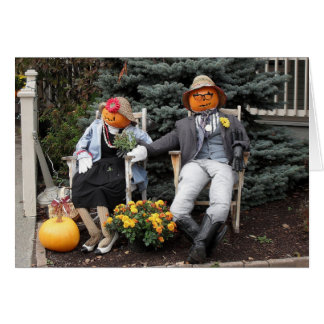 Cartes Anniversaire de couples de citrouille de Halloween