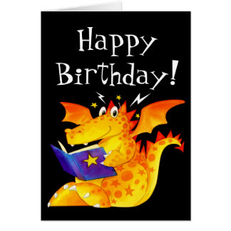 Cartes Anniversaire de dragon mignon drôle du bébé de