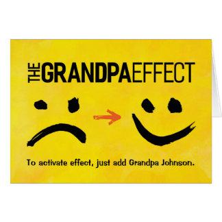 Cartes Anniversaire de grand-papa, l'effet de grand-papa