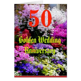 Cartes Anniversaire de mariage 50 d'or avec une chanson