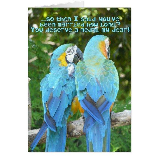 Cartes anniversaire de mariage dr le humour bleu de - Photo de mariage drole ...