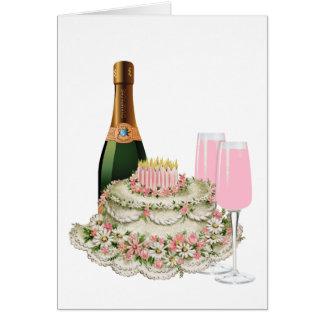 Cartes Anniversaire de pain grillé de Champagne