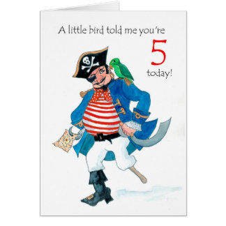 Cartes Anniversaire de pirate et de perroquet d'amusement