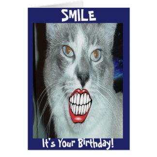 Cartes Anniversaire de sourire de chat
