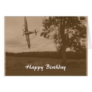 Cartes Anniversaire de Spitfire de sépia joyeux