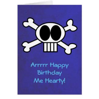 Cartes Anniversaire de thème de crâne et de pirate d'os