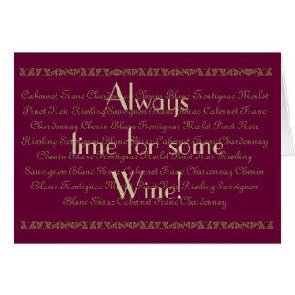 Cartes Anniversaire de vin pour vin de citation