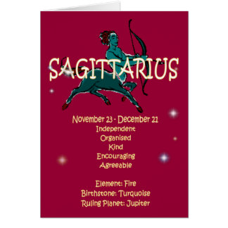Cartes Anniversaire de zodiaque de Sagittaire