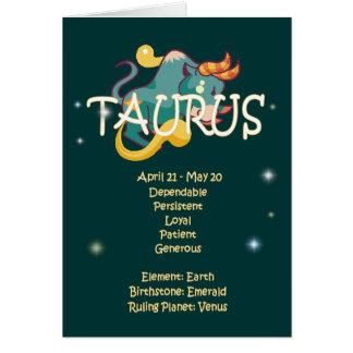 Cartes Anniversaire de zodiaque de Taureau