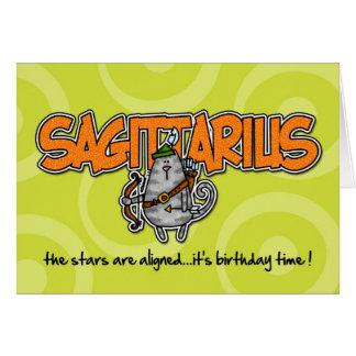 Cartes Anniversaire de zodiaque - Sagittaire