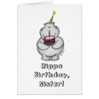 Cartes Anniversaire d'hippopotame - joyeux anniversaire