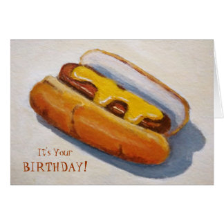 Cartes Anniversaire : Diggety chaud Dawg : Peinture de
