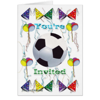 Cartes Anniversaire d'invitation du football