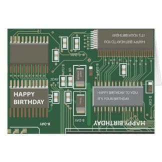 Cartes anniversaire d'ordinateur
