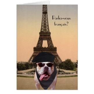 Cartes Anniversaire drôle de Français de chien de Taureau