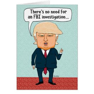 Cartes Anniversaire drôle d'enquête de l'atout FBI