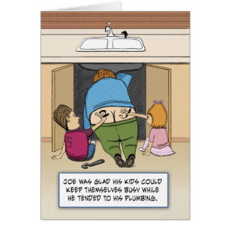 Cartes Anniversaire drôle : Joe le plombier
