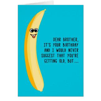 Cartes Anniversaire drôle pour des bananes de vert de