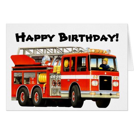 Extrem Cartes Anniversaire du camion de pompiers de l'enfant | Zazzle.fr GW91