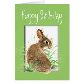 Cartes Anniversaire, humour de gâteau à la carotte, lapin