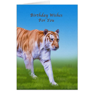 Cartes Anniversaire, marche de tigre